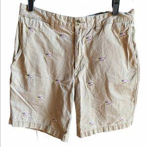 Lands End American Flag Shorts Sz 33
